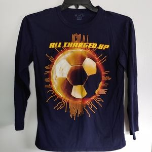 "Soccer Long Sleeve T ""All Charged Up"""